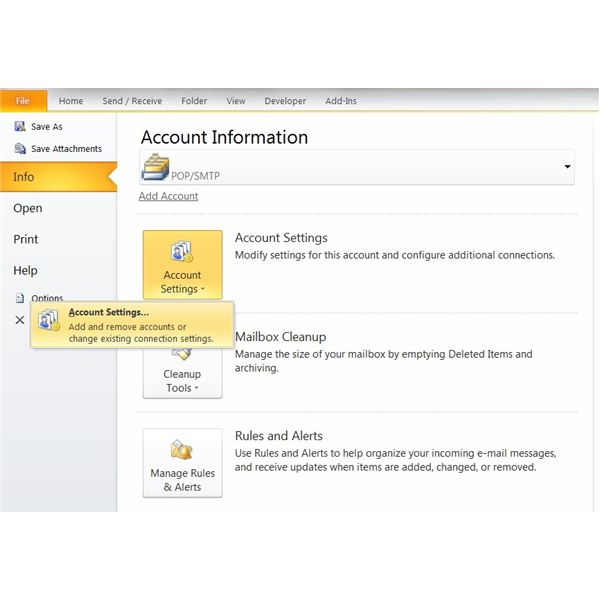 Setup AOL account in outlook