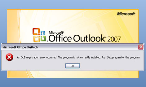 outlook configuration error