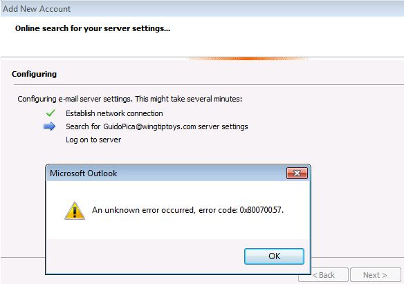How to Fix Unknown Error 0x80070057 in Outlook 2010