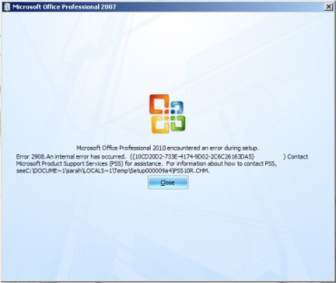 "Microsoft-Office-2010-Error -""2908"""